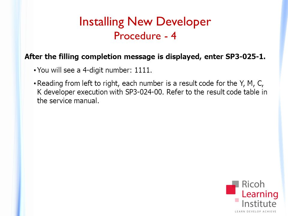 Installing New Developer Procedure - 5