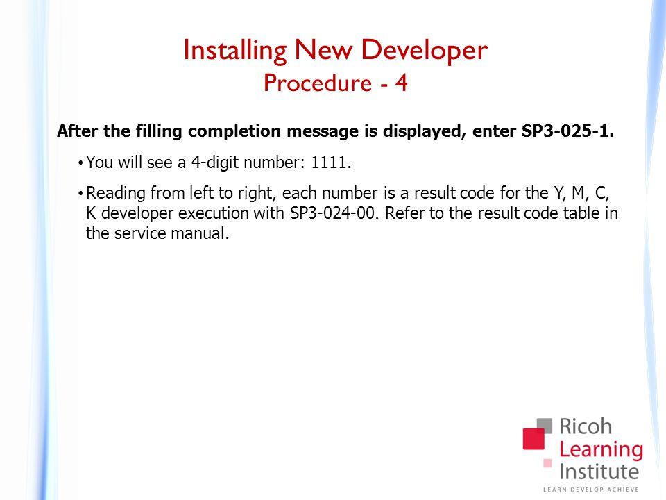 Installing New Developer Procedure - 5