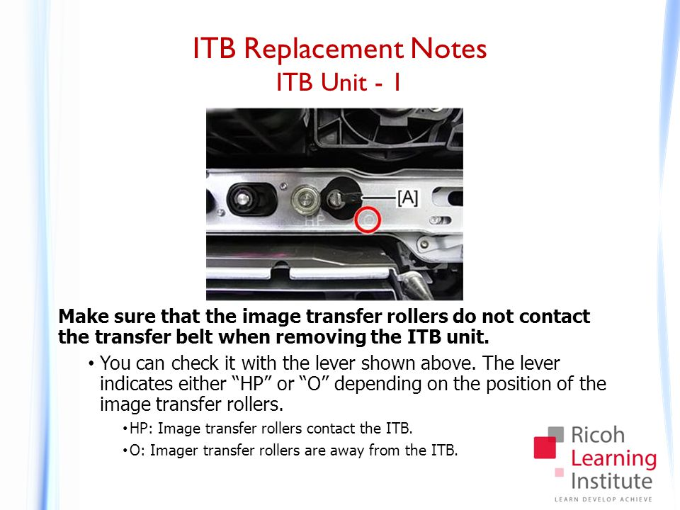 ITB Replacement Notes ITB Unit - 2