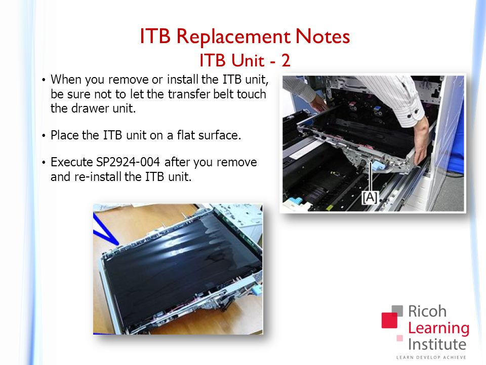ITB Replacement Notes Belt Replacement