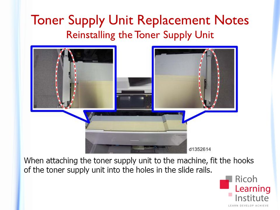 Toner Supply Unit Replacement Notes Cleaning the Toner Supply Unit