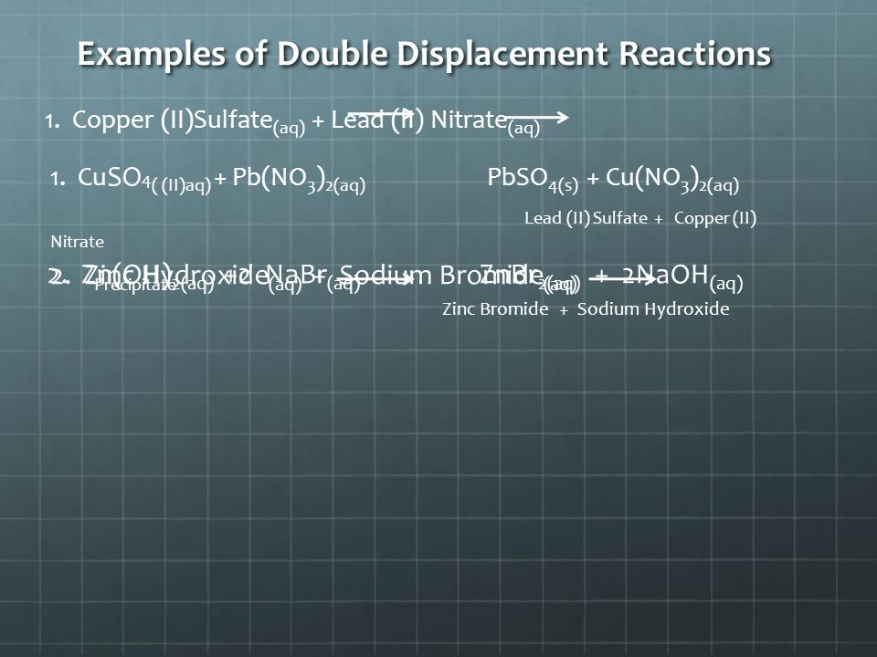 Examples of Double Displacement Reactions