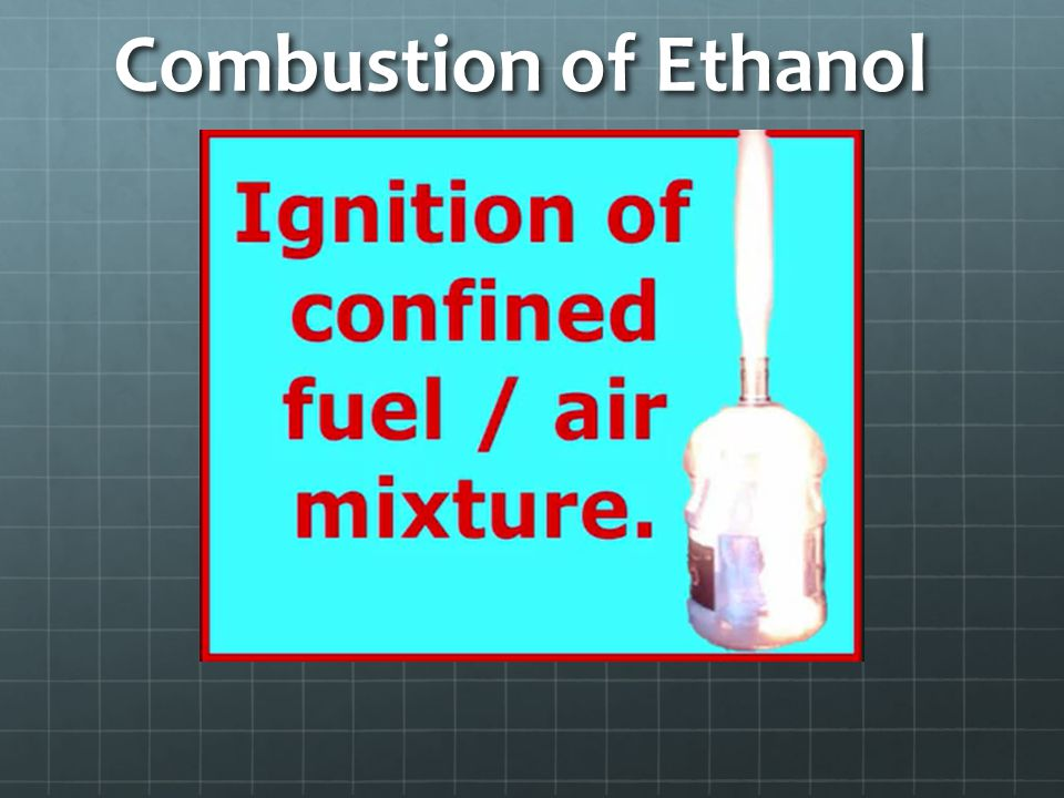 Combustion of Ethanol
