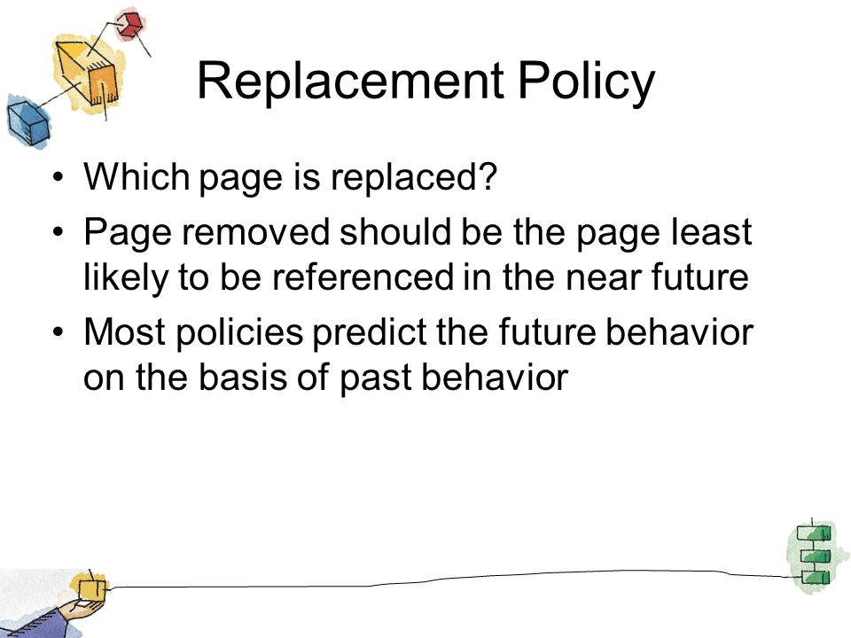 Replacement Policy Which page is replaced