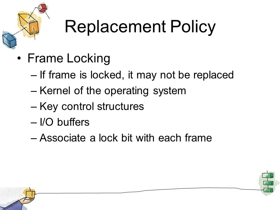 Replacement Policy Frame Locking