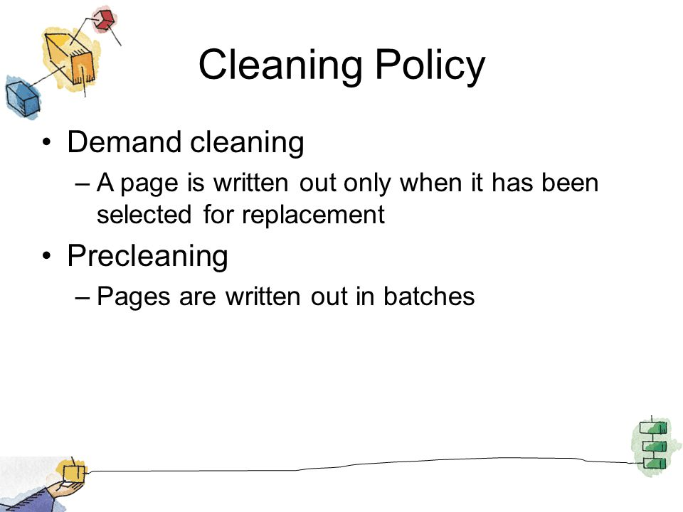 Cleaning Policy Demand cleaning Precleaning