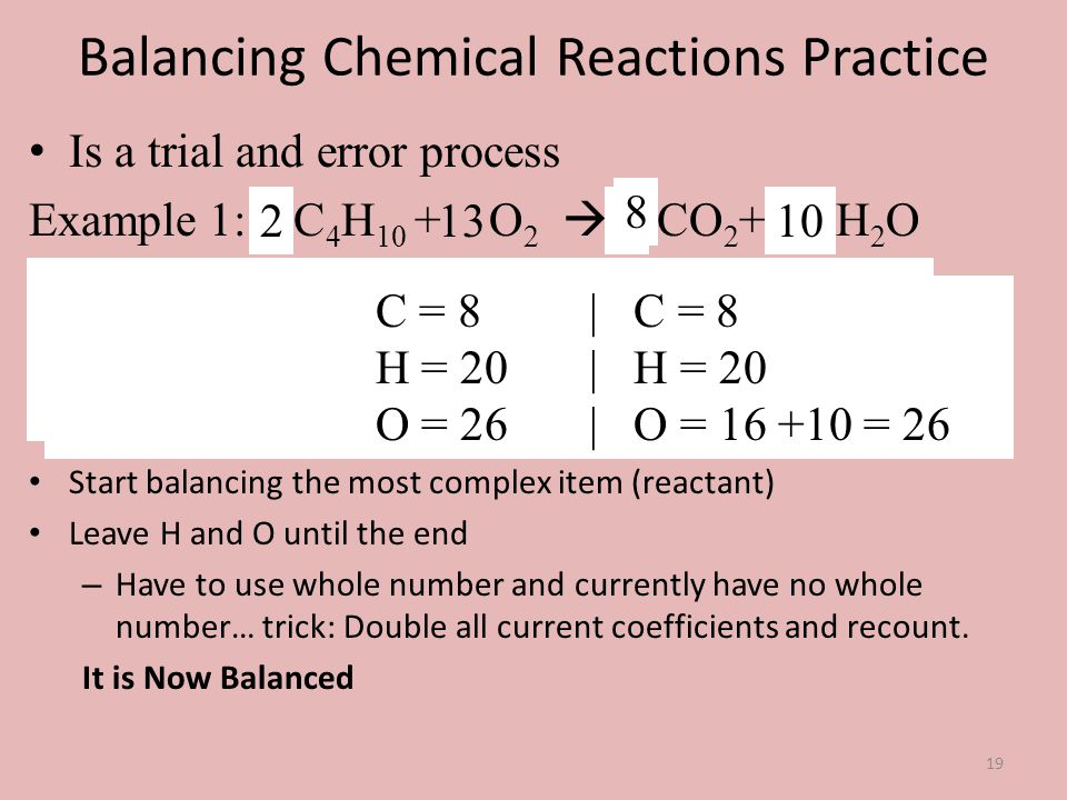 Balancing Chemical Reactions Practice