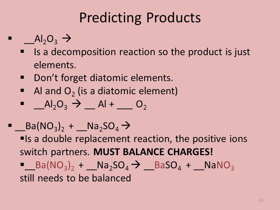 Predicting Products __Al2O3 
