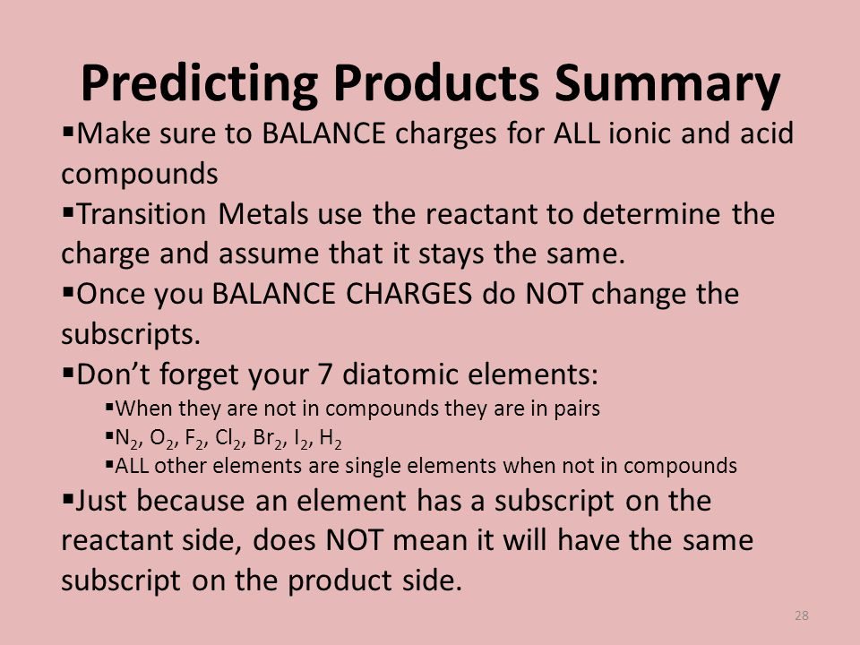 Predicting Products Summary