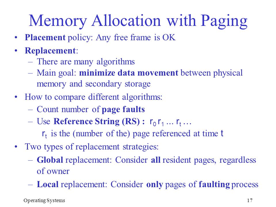 Memory Allocation with Paging