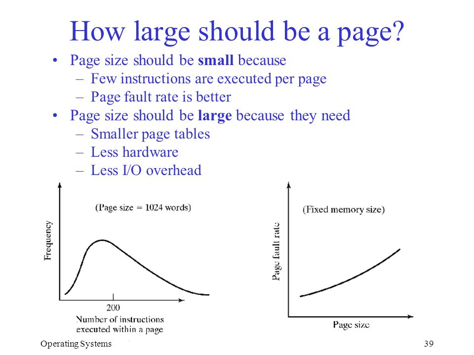How large should be a page