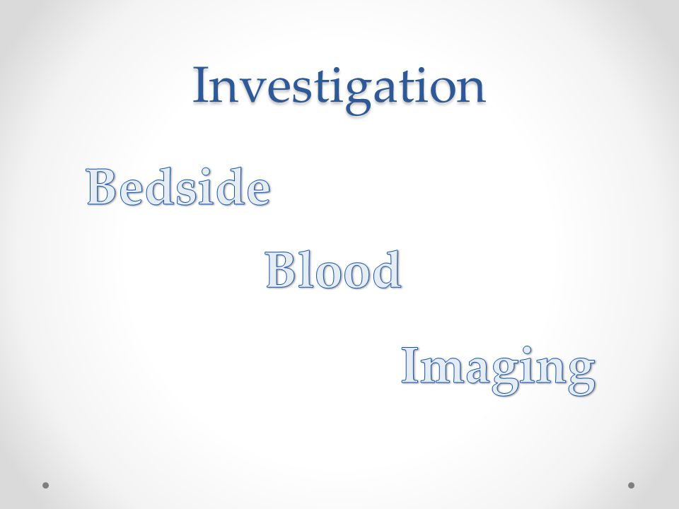 Investigation Bedside Blood Imaging