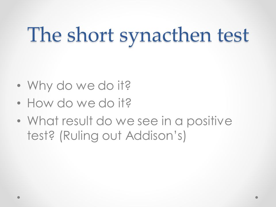 The short synacthen test