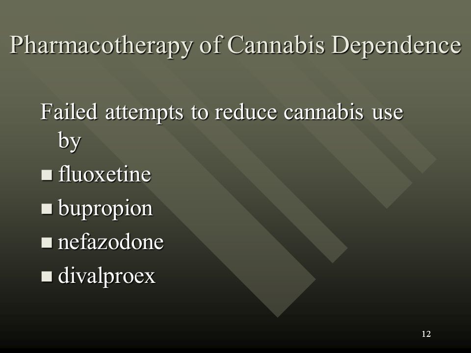 Pharmacotherapy of Cannabis Dependence