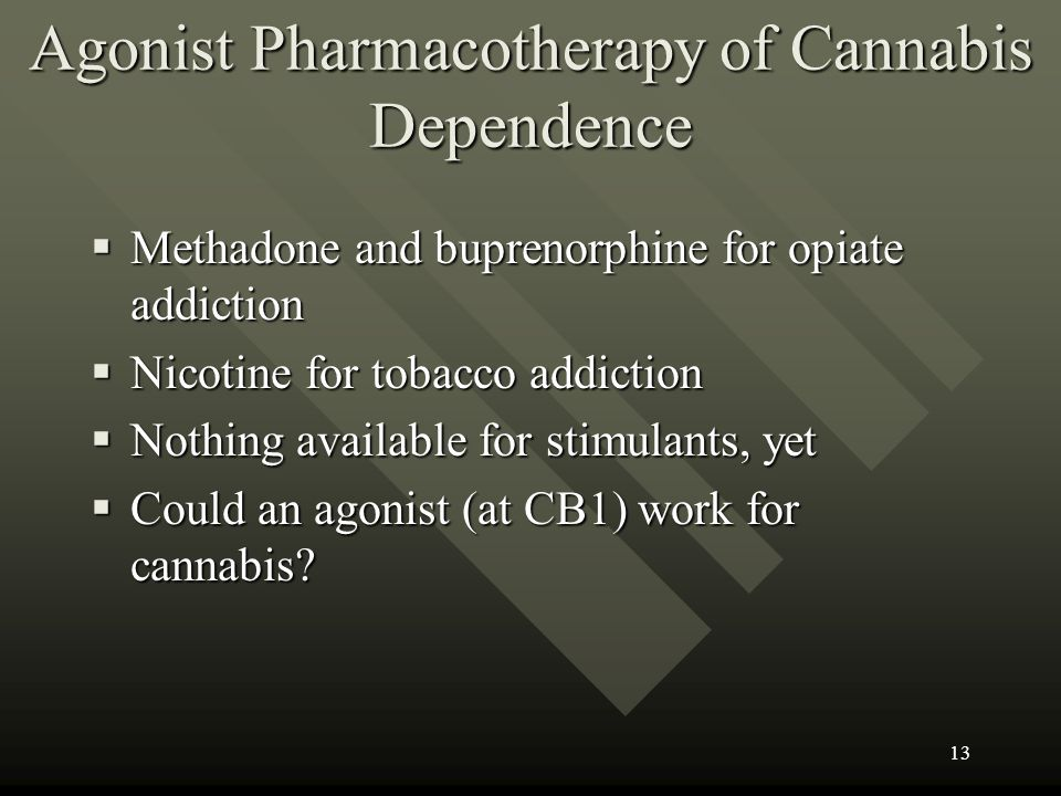 Agonist Pharmacotherapy of Cannabis Dependence
