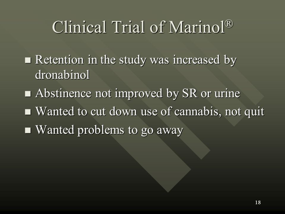 Clinical Trial of Marinol®