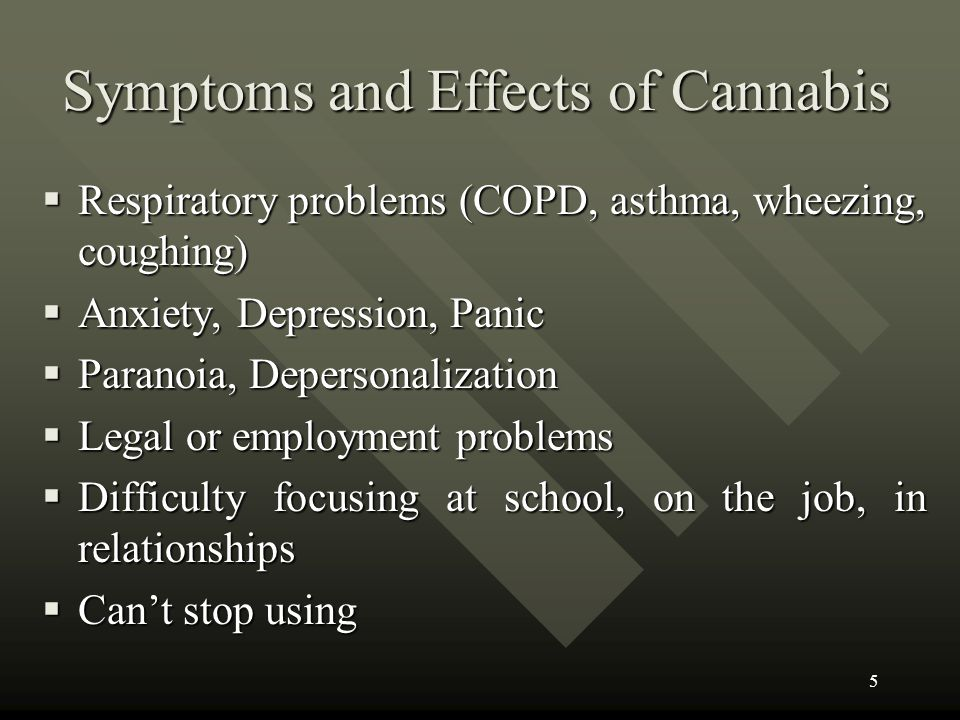 Symptoms and Effects of Cannabis