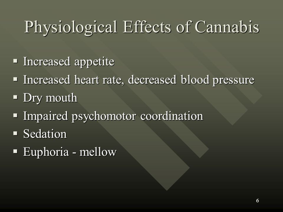 Physiological Effects of Cannabis