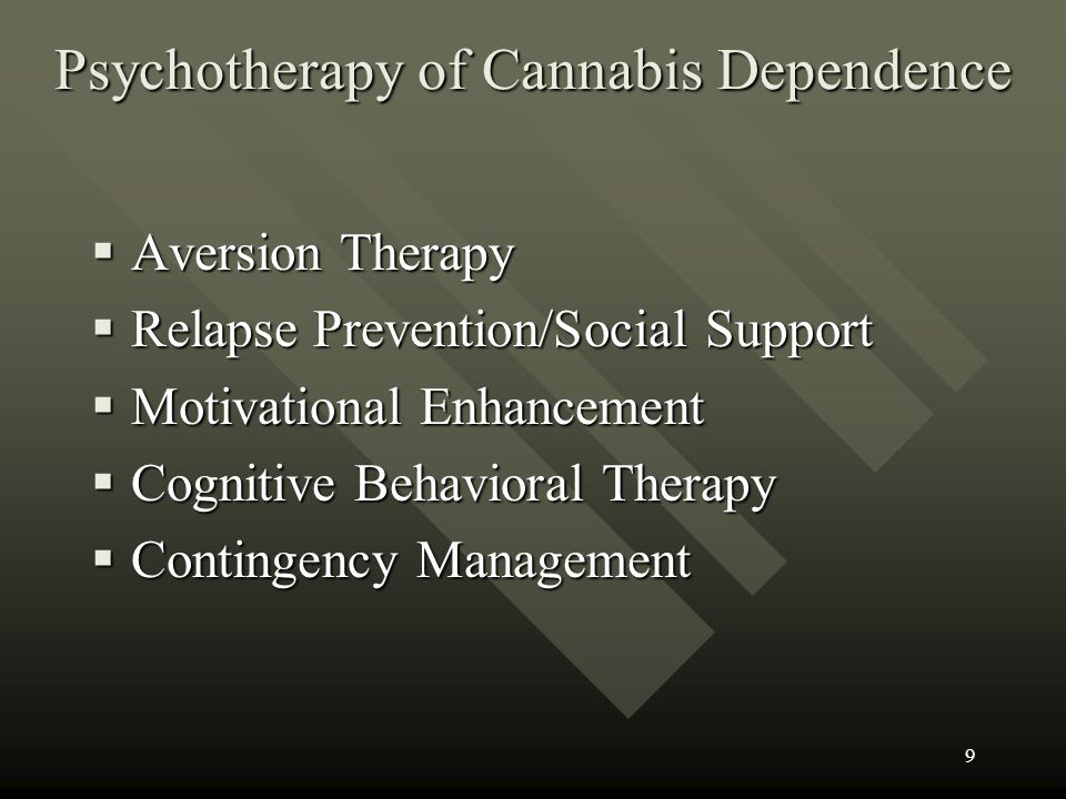 Psychotherapy of Cannabis Dependence