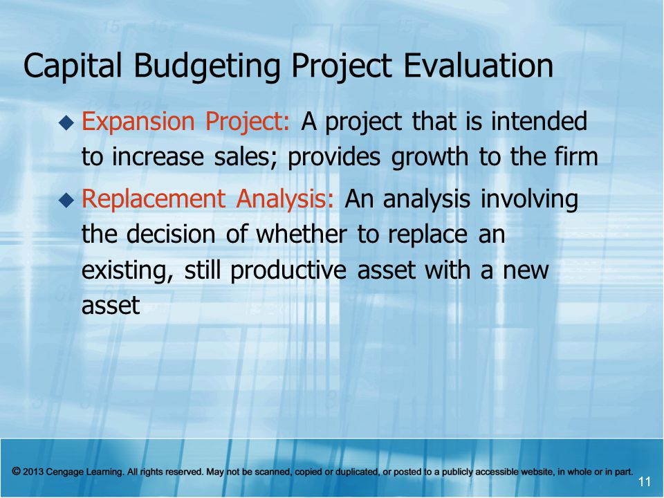 Capital Budgeting Project Evaluation