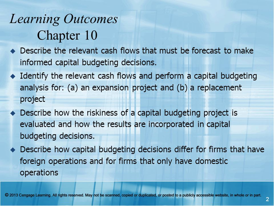 Learning Outcomes Chapter 10