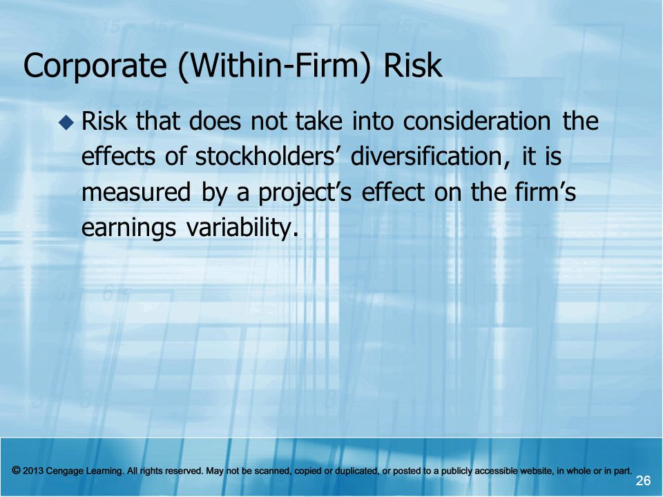 Corporate (Within-Firm) Risk