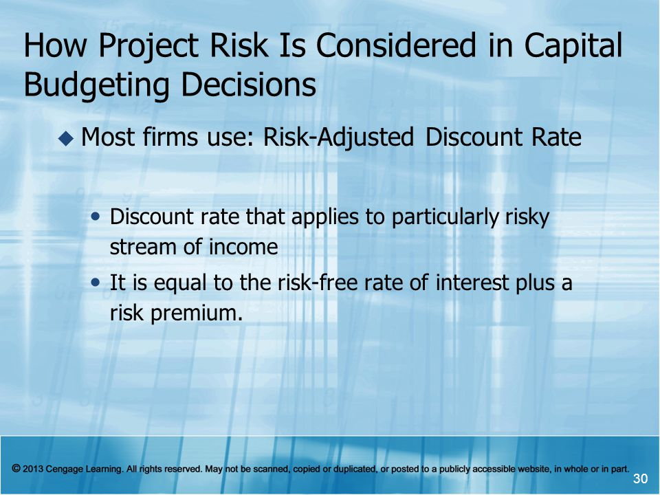 How Project Risk Is Considered in Capital Budgeting Decisions