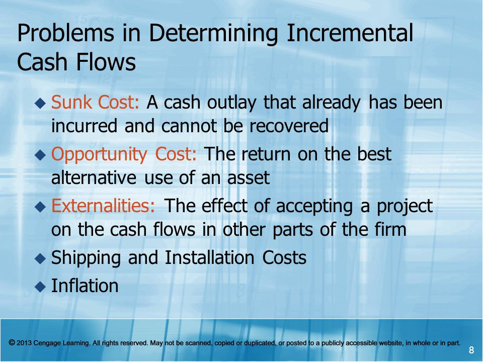 Problems in Determining Incremental Cash Flows