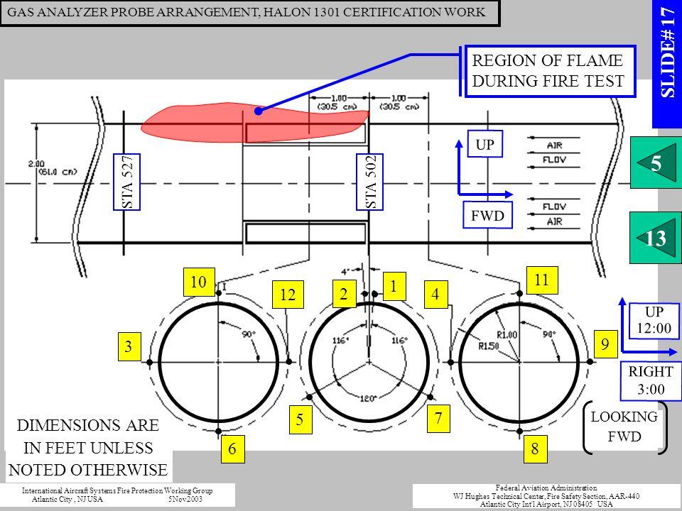 GAS ANALYZER PROBE ARRANGEMENT, HALON 1301 CERTIFICATION WORK