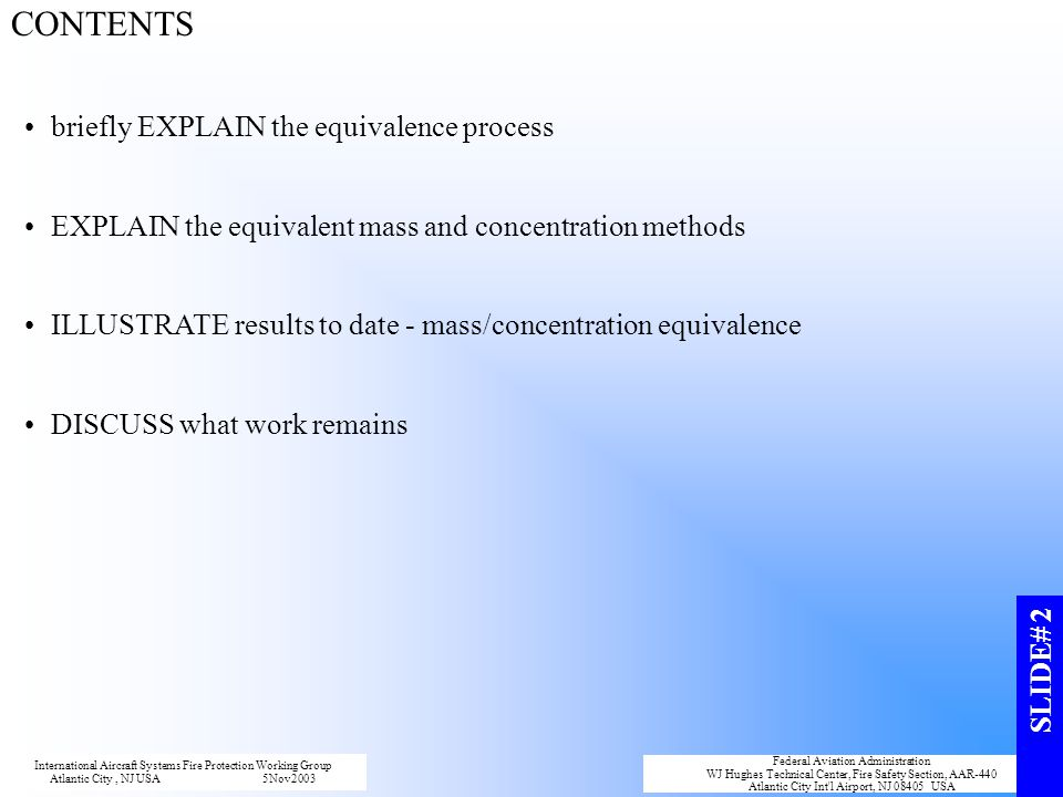 CONTENTS briefly EXPLAIN the equivalence process