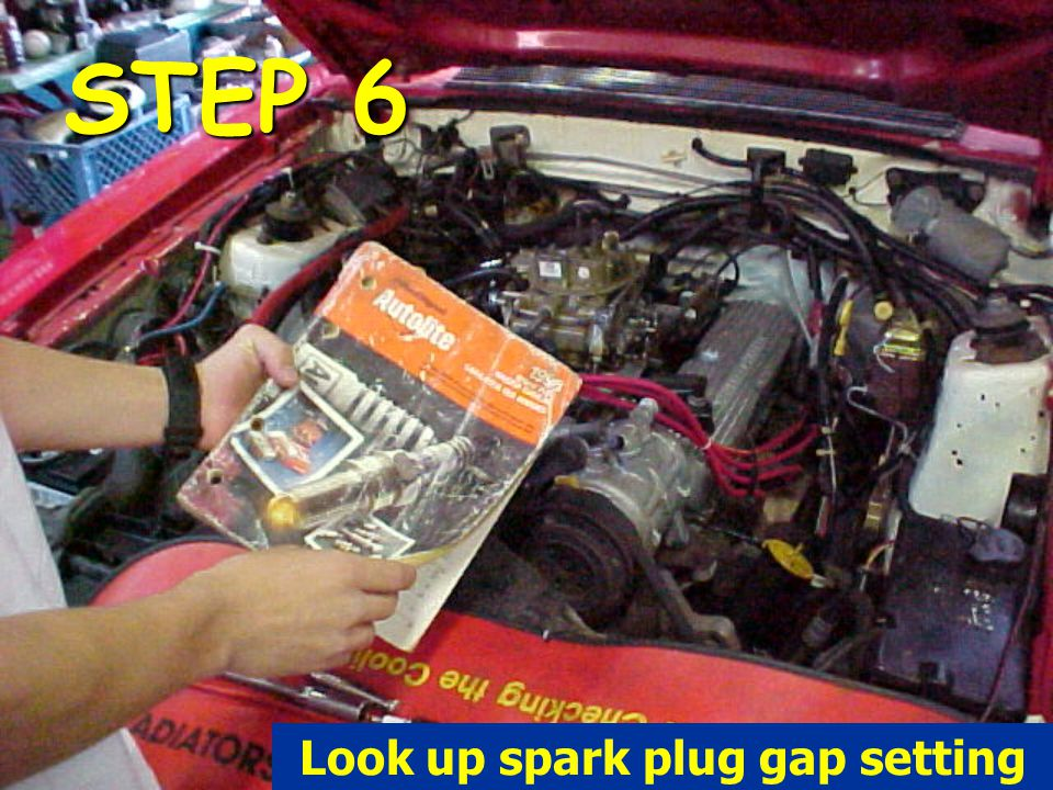 Look up spark plug gap setting