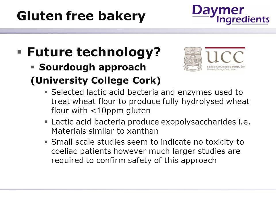 Gluten free bakery Future technology Sourdough approach