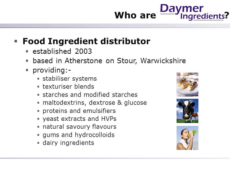 Who are Food Ingredient distributor established 2003
