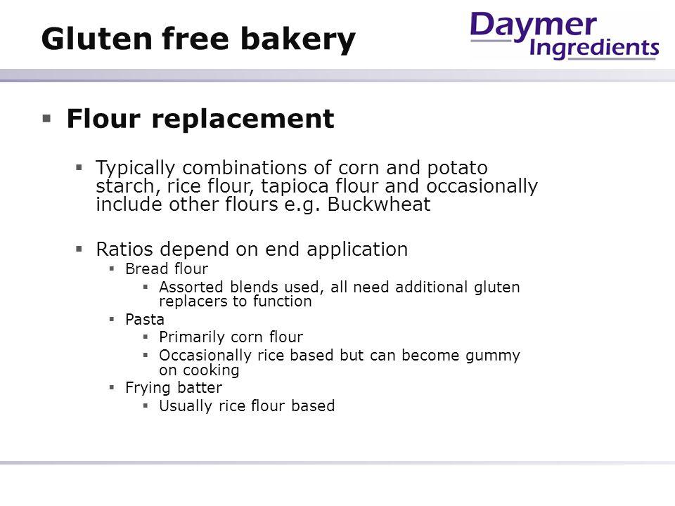 Gluten free bakery Flour replacement