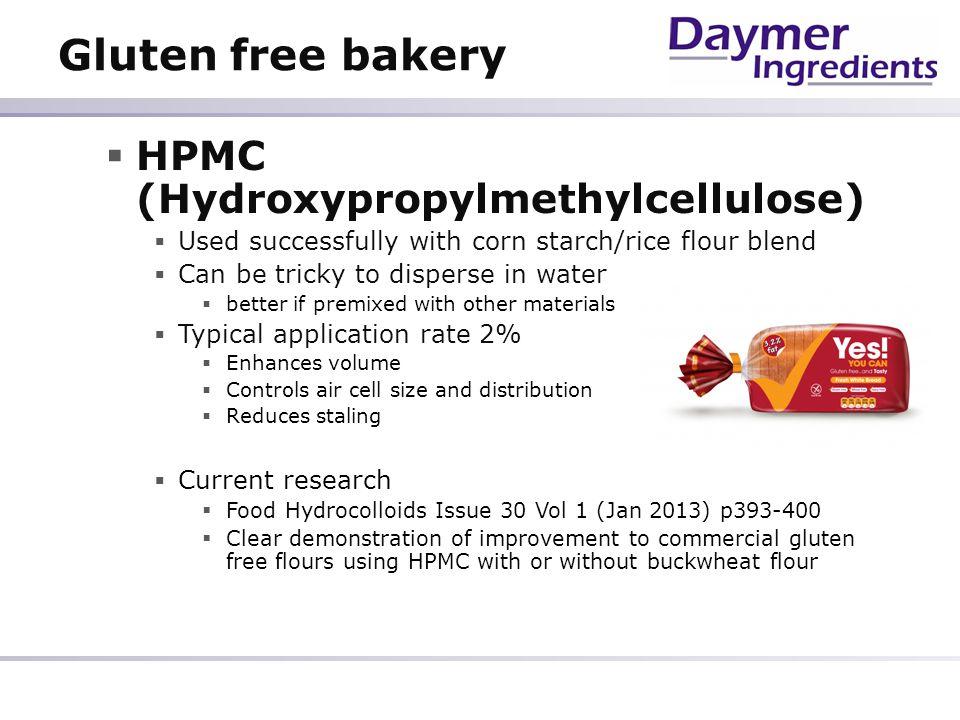 Gluten free bakery HPMC (Hydroxypropylmethylcellulose)
