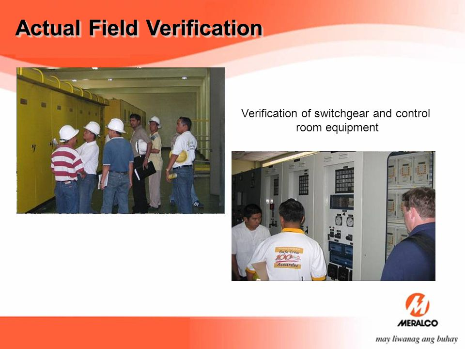 Verification of switchgear and control