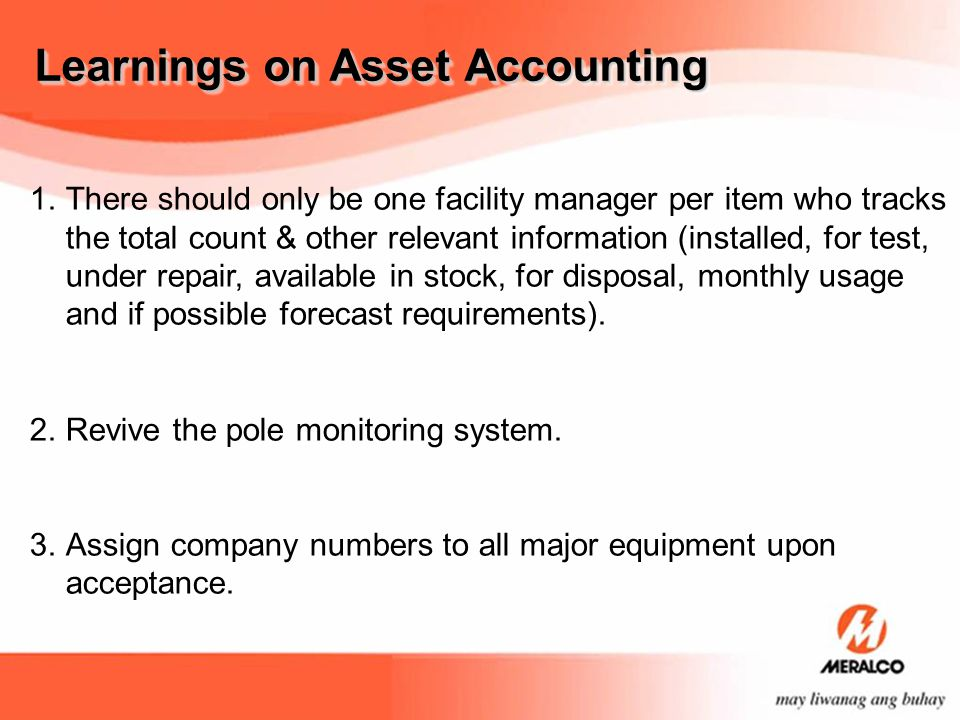 Learnings on Asset Accounting