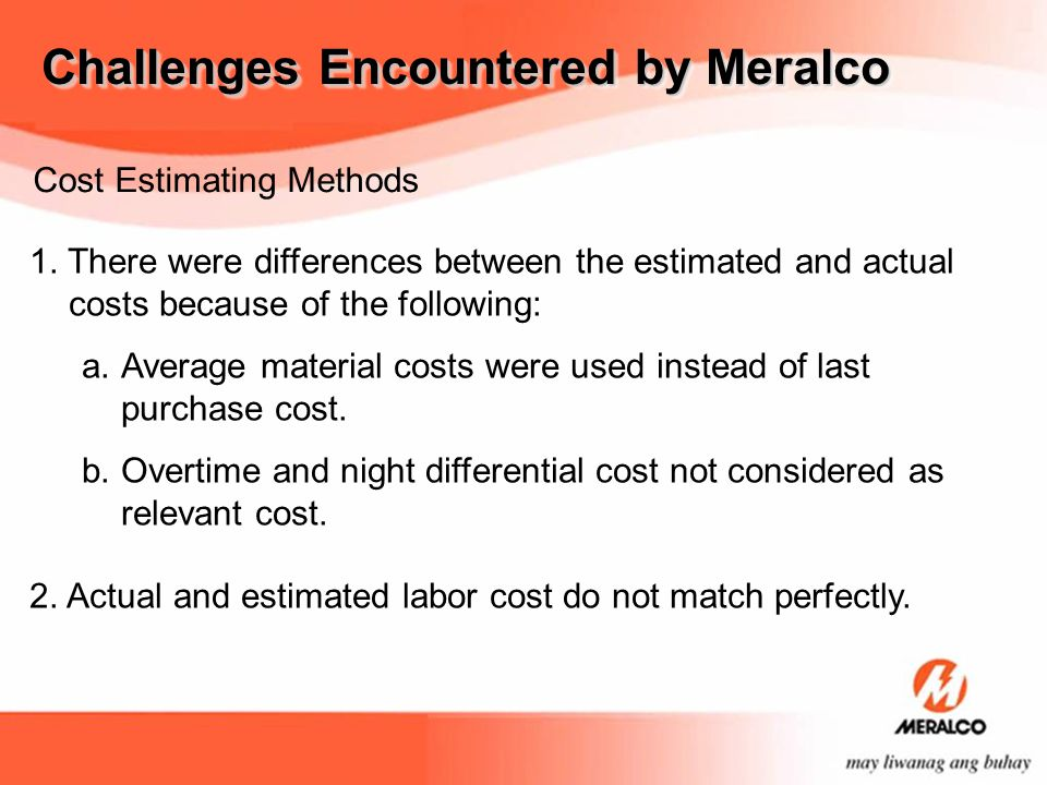 Cost Estimating Methods