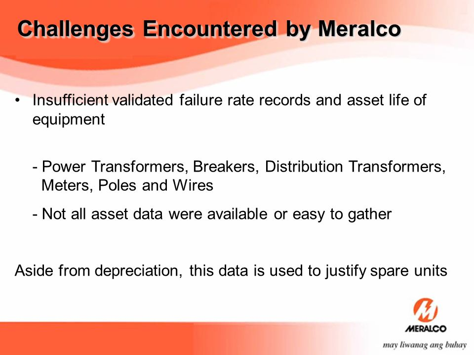 Challenges Encountered by Meralco