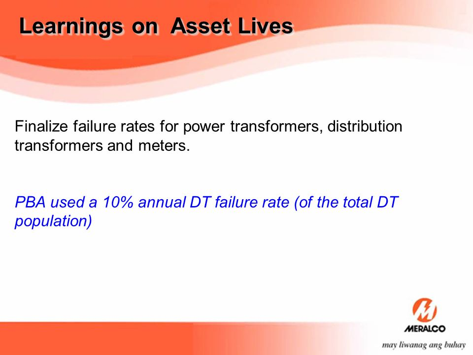 Learnings on Asset Lives