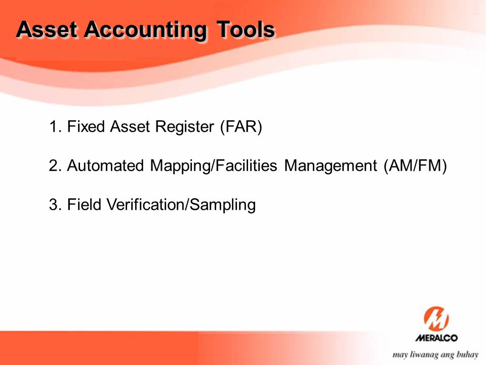 Asset Accounting Tools