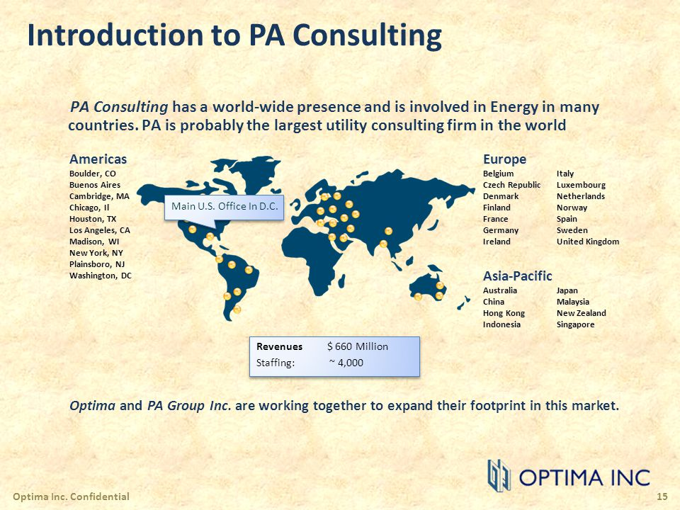 Introduction to PA Consulting