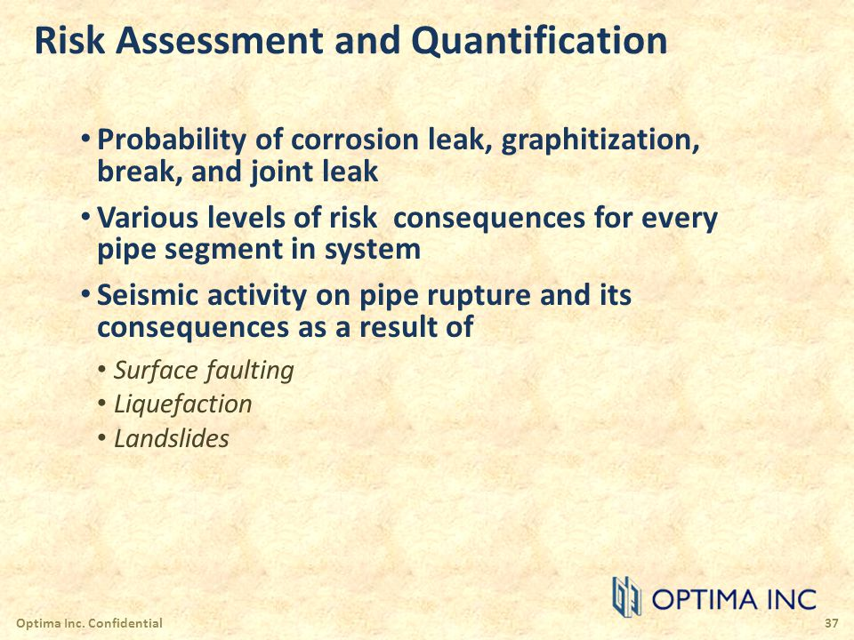 Risk Assessment and Quantification