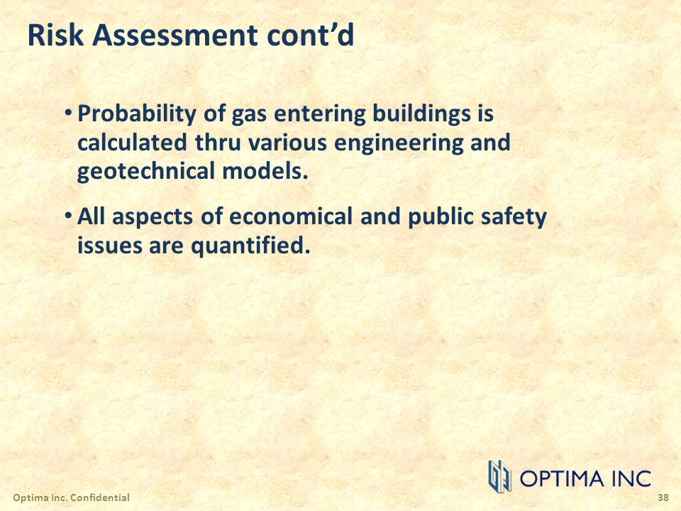 Risk Assessment cont'd