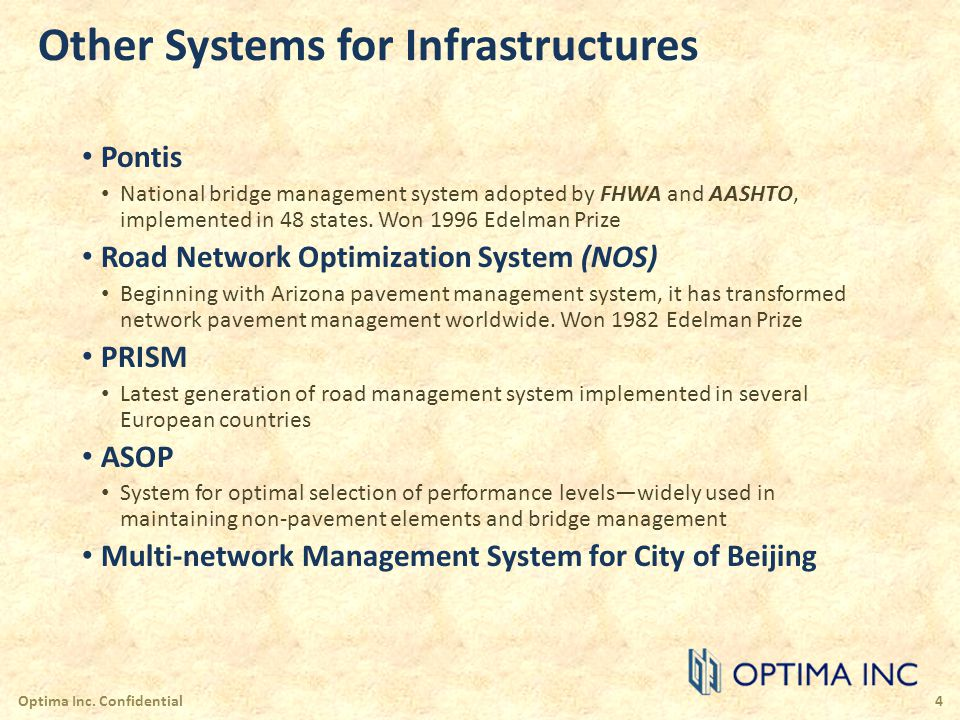 Other Systems for Infrastructures