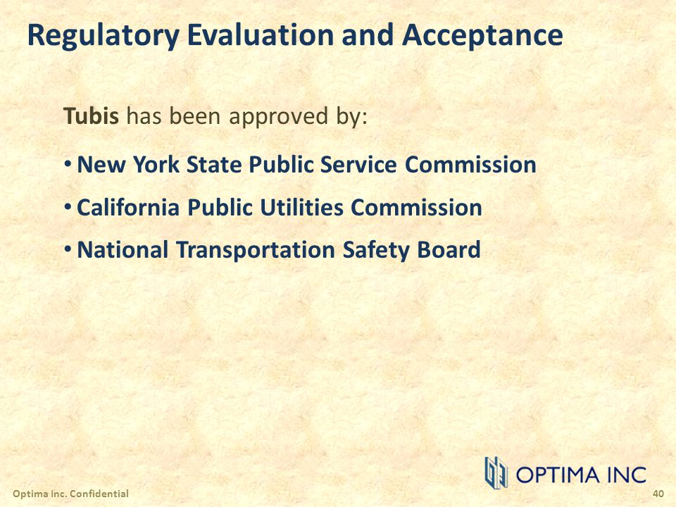 Regulatory Evaluation and Acceptance