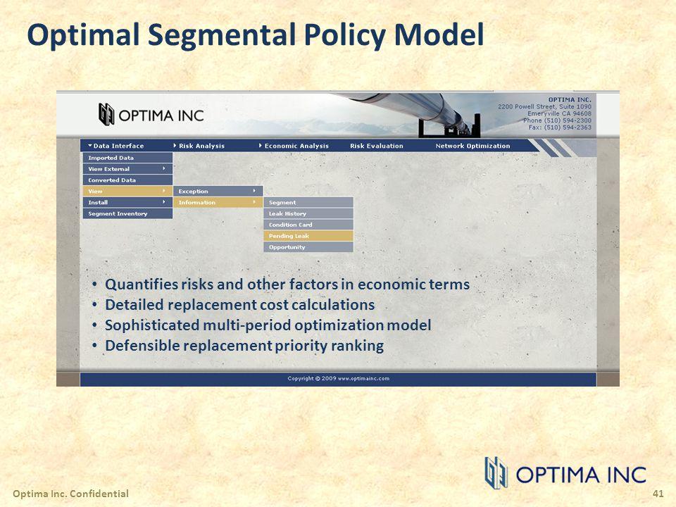 Optimal Segmental Policy Model