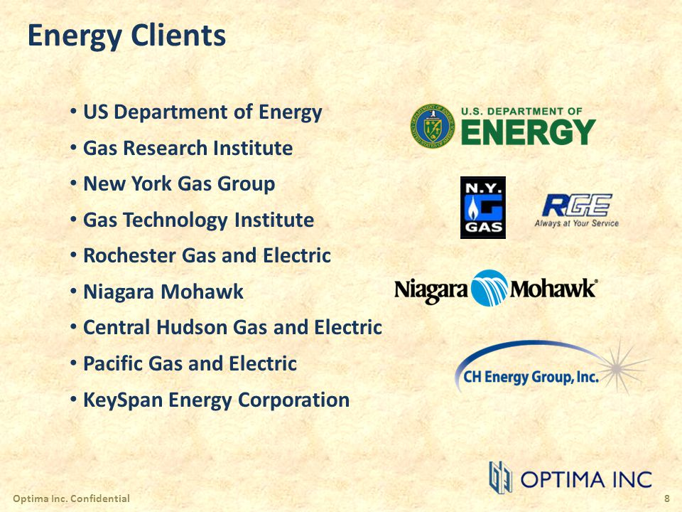 Energy Clients US Department of Energy Gas Research Institute