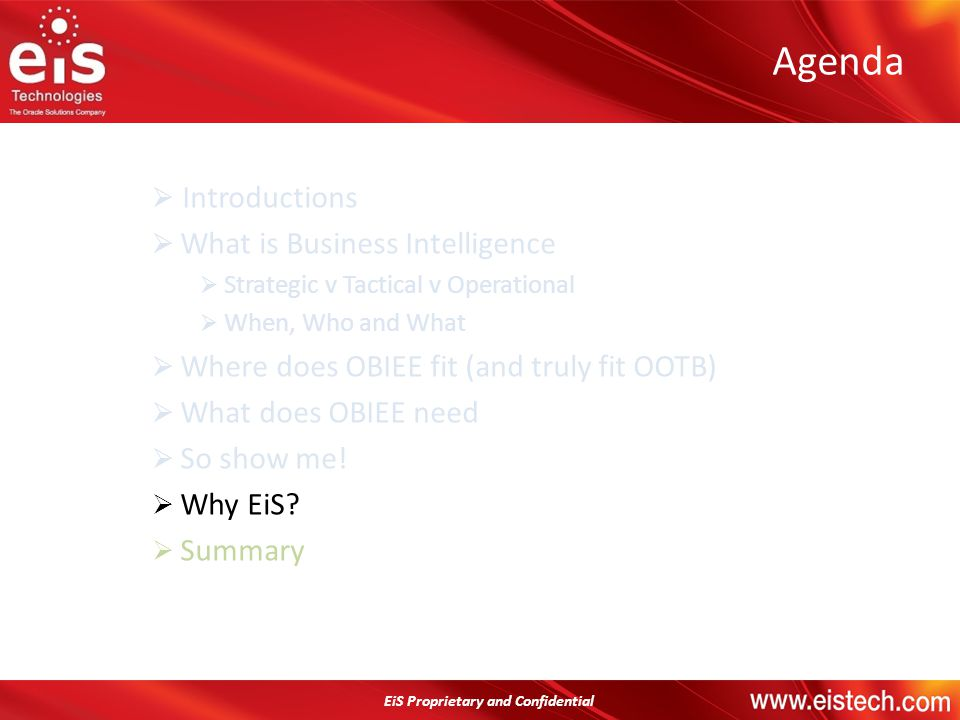 Agenda Introductions What is Business Intelligence