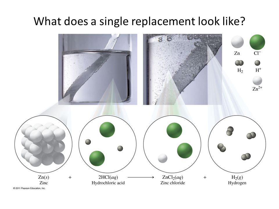 What does a single replacement look like